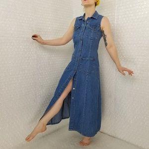 For Joseph Vintage 1990s denim maxi dress